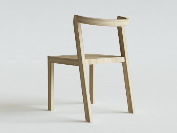 MOON krzesło dębowe