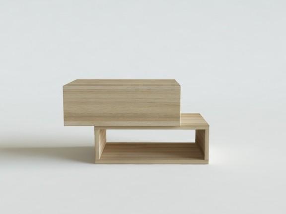 BOX STOLIK NOCNY z szufladą dąb wymiary