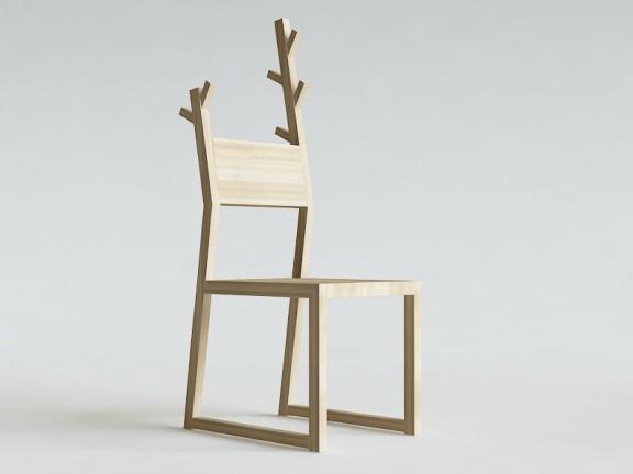 BASE MOOSE krzesło z wieszakiem dąb