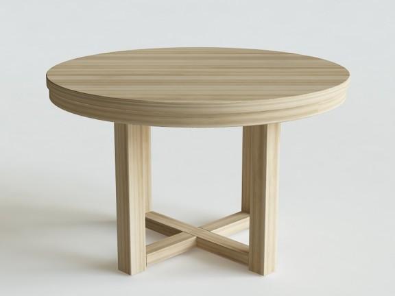 FOREK stół okrągły fi 120cm rozkładany