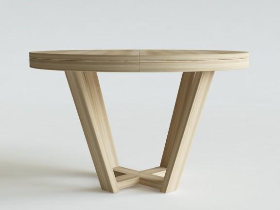 ELM  stół rozkładany okrągły, wymiary