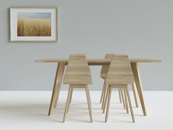 N.3 PRL stół dębowy, różne wymiary