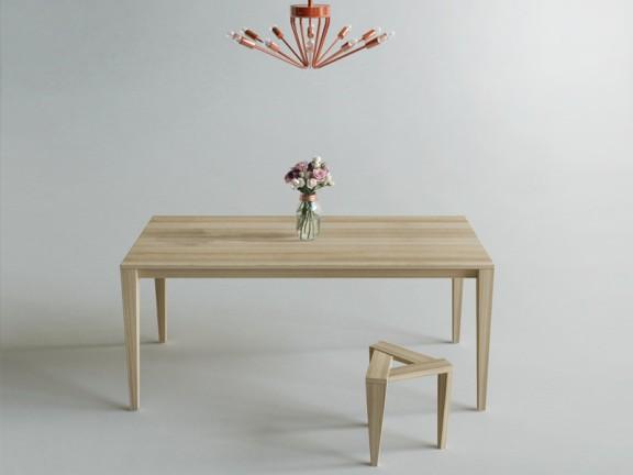 ROGO KANT stół dębowy, różne wymiary