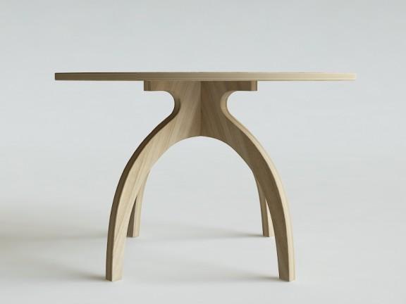TULIP stół okrągły dębowy, wymiary