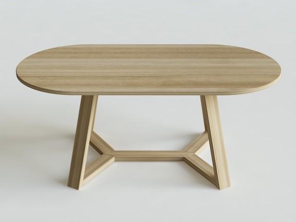 FLOW OWAL stół dębowy, różne wymiary