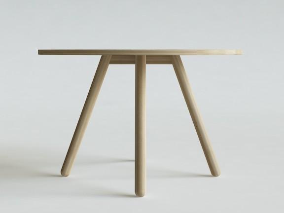 TWIG stół okrągły dębowy, wymiary