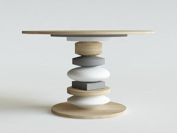 SZYCHA stół okrągły wymiary