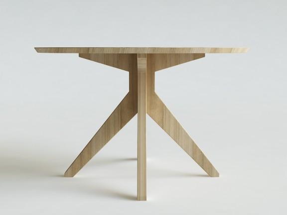 RANT stół okrągły dębowy, wymiary