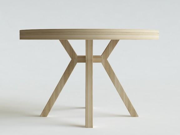 STAR stół rozkładany okrągły, wymiary