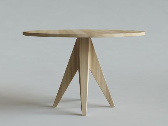 HORN 1 stół okrągły dębowy, wymiary