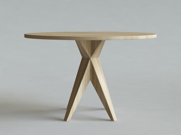 HORN 3 stół okrągły dębowy, wymiary