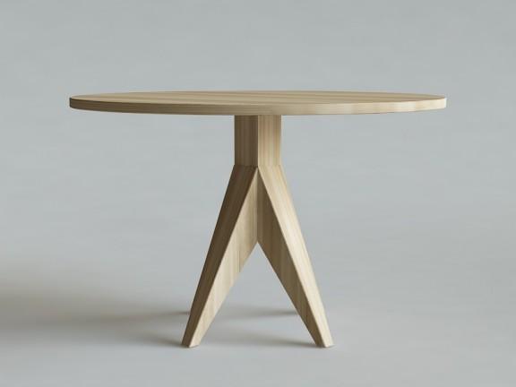 HORN 2 stół okrągły dębowy, wymiary