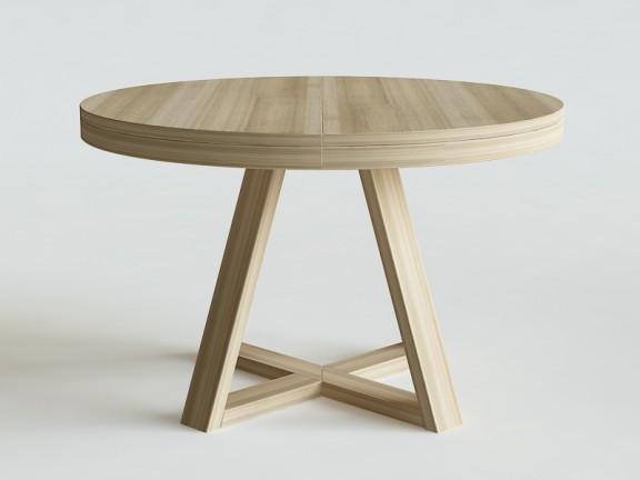 FLOW stół okrągły rozkładany fi 130cm