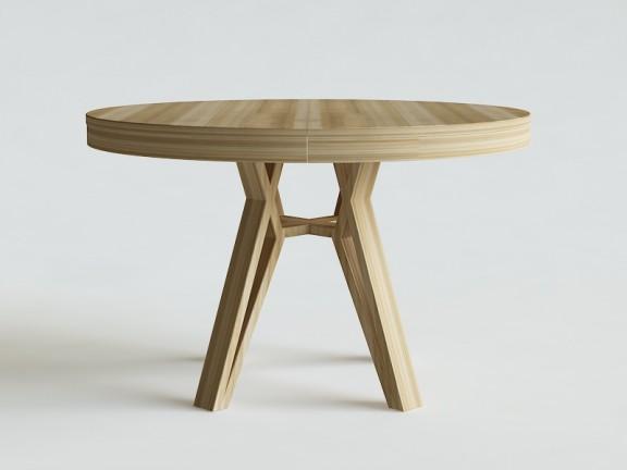 SPLOT stół okrągły dębowy, rozkładany fi 120cm