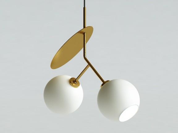 Cherry 2 biały + złoty