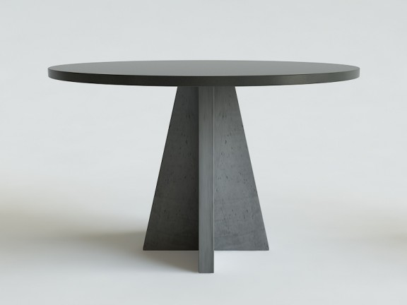 MASSIVE beton + dąb stół okrągły