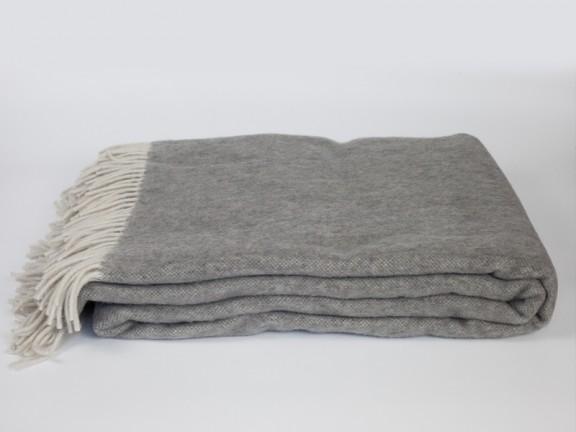 Grafit - koc 100% wełna, tkany na krosnach