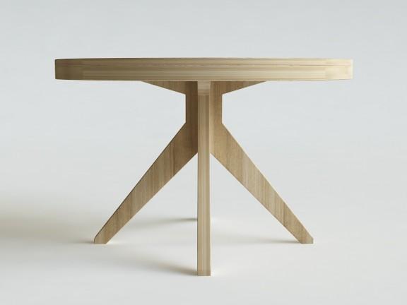 RIM stół okrągły rozkładany,  wymiary